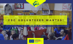 We are looking for 10 new ESC volunteers to support us for 9 months